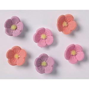 Culpitt Piped Sugar Flowers - Blossoms - Peach, Pink, Lilac (Box of 1000)