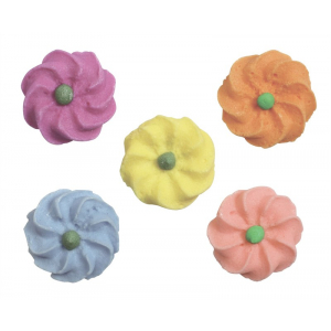 Culpitt Piped Sugar Flowers - Twist Blossom Assortment (Box of 1000)