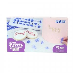 PME Fun Fonts : Alphabet Press Stamp Set - Collection 1 (52 Pieces)