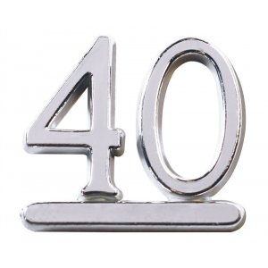 Culpitt Decoration / Motto - Number 40 - Silver (Pack of 50)