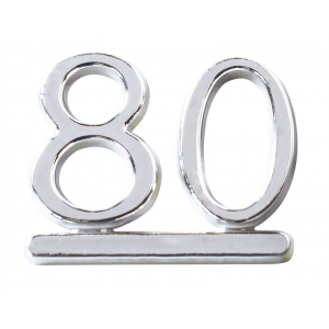 Culpitt Decoration / Motto - Number 80 - Silver (Pack of 50)