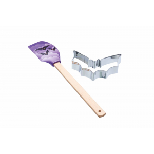 KitchenCraft Spookily Does It Spatula and Cookie Cutter - Bat