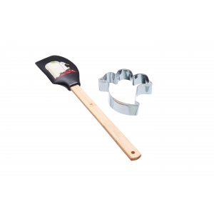 KitchenCraft Spookily Does It Spatula and Cookie Cutter - Ghost