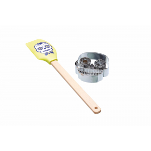 KitchenCraft Spookily Does It Spatula and Cookie Cutter - Skull