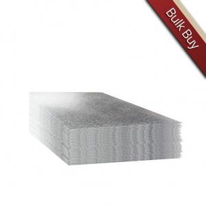 "Cake Card Single Thick - Square - Silver - 04"""