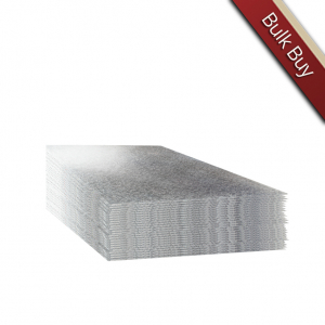 """Single Thick Turned Edge Cake Cards - Square - Silver - 12"""" (Pack of 25)"""