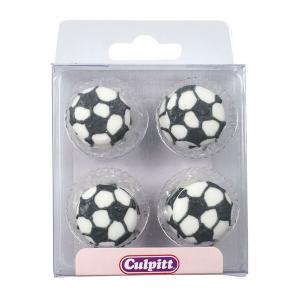 Culpitt Sugar Pipings - Footballs (Pack of 12)