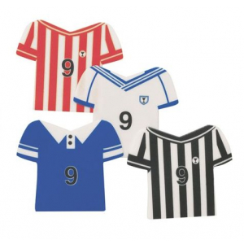 Culpitt Printed Sugar Plaques - Football Shirt Assortment (Box of 160)