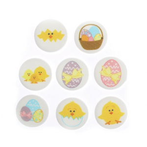 Culpitt Printed Sugarettes - Easter Eggs & Chicks (Box of 448)