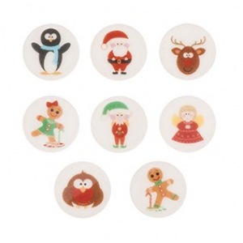 Culpitt Printed Sugarettes - Children's Christmas Assortment (Box of 448)