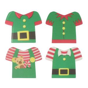 Culpitt Printed Sugar Plaques - Elf Jackets & Shirts (Box of 160)