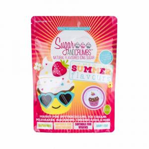 Sugar & Crumbs Natural Flavoured Icing Sugar - Strawberries & Cream (500g)