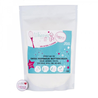 Sugar & Crumbs Whipping It up! Swiss Meringue Buttercream Mix - White Chocolate & Raspberry (500g)