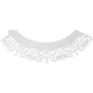 PME Decorative Lace Cupcake Wrappers - Cross - White (Pack of 12)