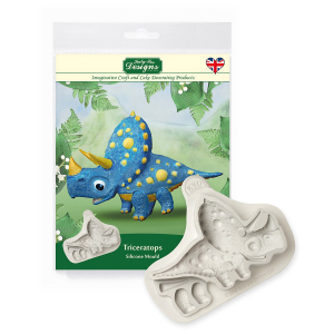Katy Sue Designs Mould - 3D Dinosaur - Triceratops