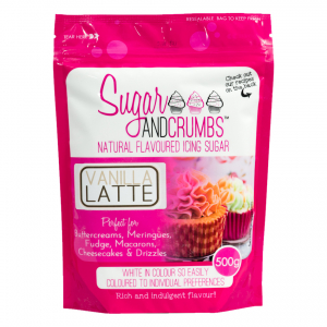 Sugar & Crumbs Natural Flavoured Icing Sugar - Vanilla Latte (500g)