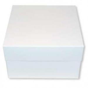 "Cake Box Base & Lid - White - 14"""
