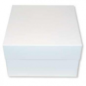 "Cake Box Base & Lid - White - 09"""