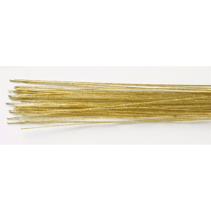 Culpitt Floral Wires #24 Gauge - Metallic Gold (Pack of 50)