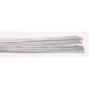Culpitt Floral Wires #24 Gauge - Metallic Silver (Pack of 50)