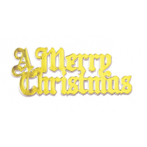 Culpitt Decoration / Motto - A Merry Christmas - Gold & White (Pack of 100)