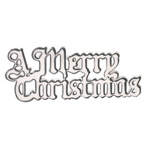 Culpitt Decoration / Motto - A Merry Christmas - Silver (Pack of 100)