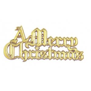 Culpitt Decoration / Motto - A Merry Christmas - Gold (Pack of 100)
