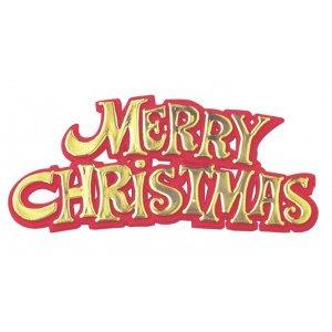 Culpitt Decoration / Motto - Merry Christmas - Gold & Red (Pack of 100)